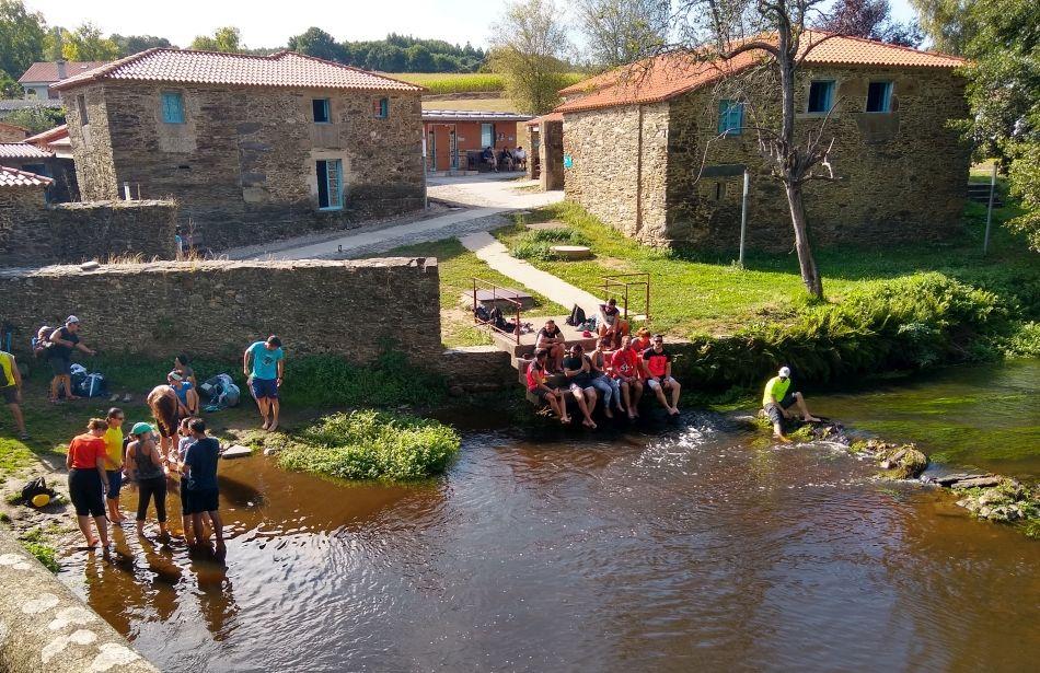 Spanje Naar Santiago De Compostela Over De Camino Frances